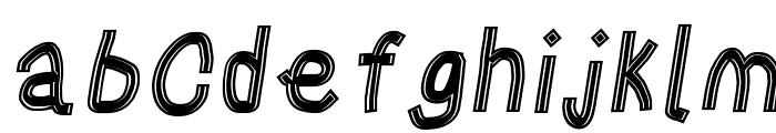 Gaffer's Tape Italic Font LOWERCASE