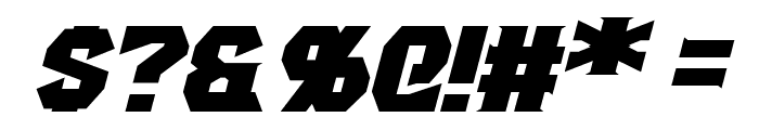 Gaiking Extended Italic Font OTHER CHARS