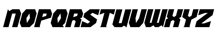 Gaiking Extended Italic Font LOWERCASE
