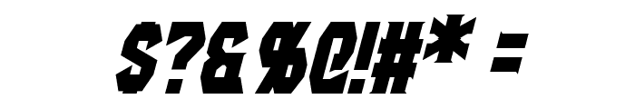 Gaiking Italic Font OTHER CHARS