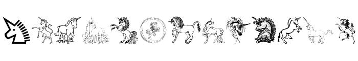 Gails Unicorn Font LOWERCASE