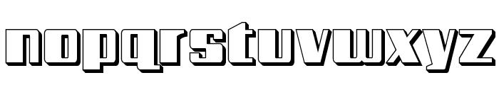 Galactic Storm 3D Font LOWERCASE