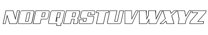 Galactic Storm Outline Italic Font UPPERCASE