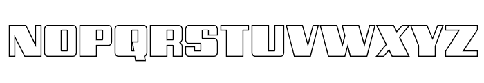 Galactic Storm Outline Font UPPERCASE