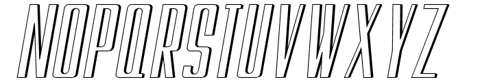 Galah Panjang Italic Font UPPERCASE