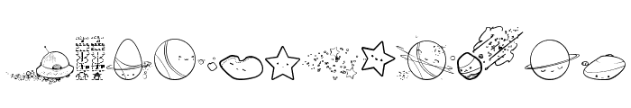 Galaxia Font UPPERCASE