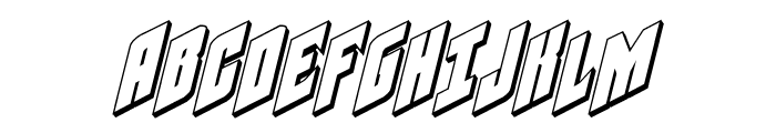 Galaxy Force 3D Italic Font UPPERCASE