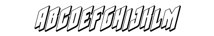 Galaxy Force 3D Italic Font LOWERCASE