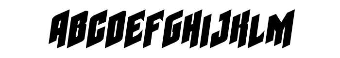 Galaxy Force Expanded Semi-Italic Font LOWERCASE