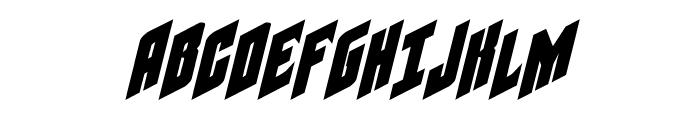 Galaxy Force Italic Font UPPERCASE