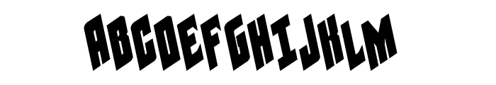 Galaxy Force Leftalic Font UPPERCASE