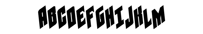 Galaxy Force Rotated Font UPPERCASE