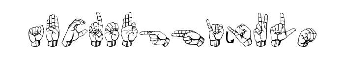 Gallaudet Medium Font LOWERCASE
