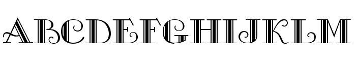 Gallery Font UPPERCASE