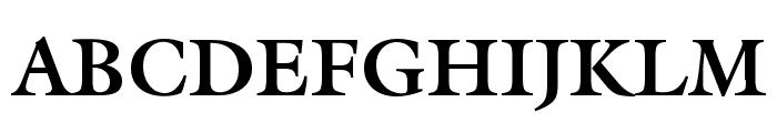 Galliard Bold BT Font UPPERCASE