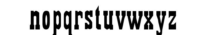 Gambler Font LOWERCASE