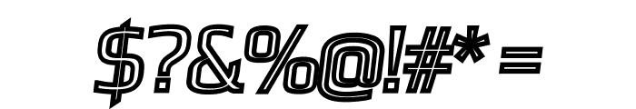Gamestation-DisplayOblOutline Font OTHER CHARS