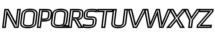 Gamestation-DisplayOblOutline Font UPPERCASE