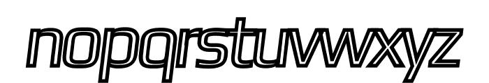 Gamestation-DisplayOblOutline Font LOWERCASE