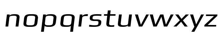 Gamestation-ExtendedOblique Font LOWERCASE