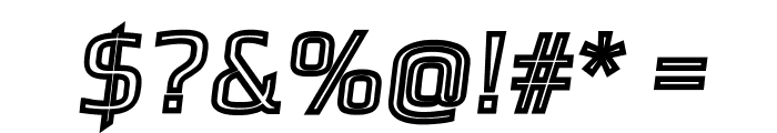 Gamestation-TextObliqOutline Font OTHER CHARS