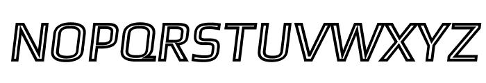 Gamestation-TextObliqOutline Font UPPERCASE