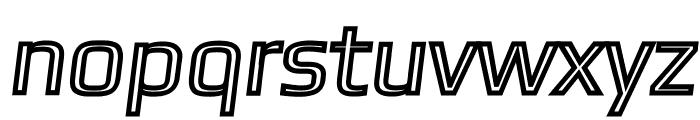 Gamestation-TextObliqOutline Font LOWERCASE
