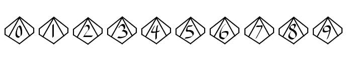 GamingDice Font OTHER CHARS