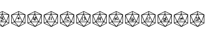 GamingDice Font UPPERCASE