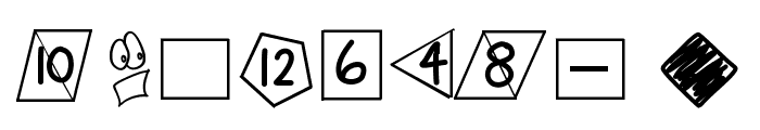 GamingDiceStandard Font OTHER CHARS