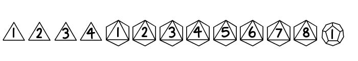GamingDiceStandard Font LOWERCASE