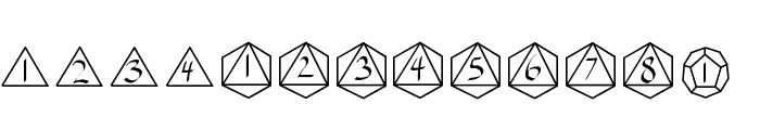 GamingDice Font LOWERCASE