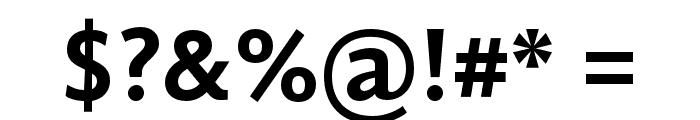 GandhiSans-Bold Font OTHER CHARS
