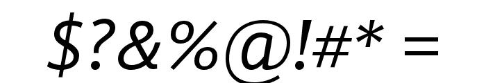 GandhiSans-Italic Font OTHER CHARS