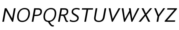 GandhiSans-Italic Font UPPERCASE