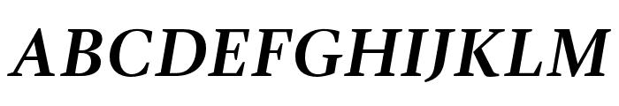GandhiSerif-BoldItalic Font UPPERCASE