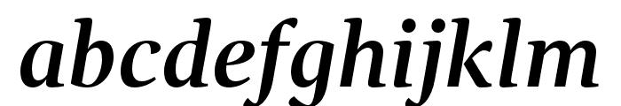 GandhiSerif-BoldItalic Font LOWERCASE