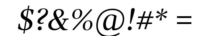 GandhiSerif-Italic Font OTHER CHARS