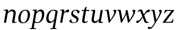 GandhiSerif-Italic Font LOWERCASE