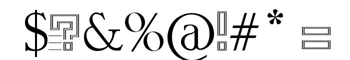 GangOfSipirok Font OTHER CHARS