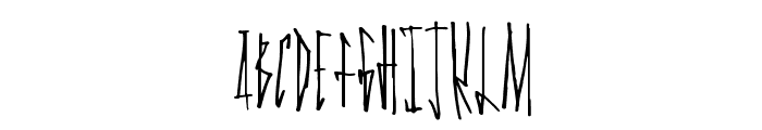 GanstaWalk Font UPPERCASE
