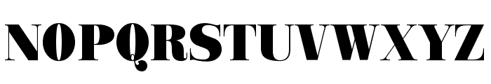 Ganton Font UPPERCASE