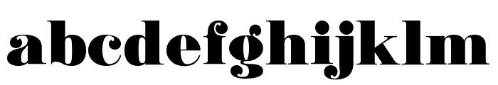 Ganton Font LOWERCASE