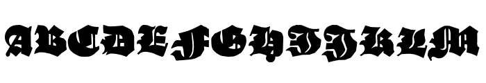 Ganz Grobe Gotisch UNZ1A Font UPPERCASE