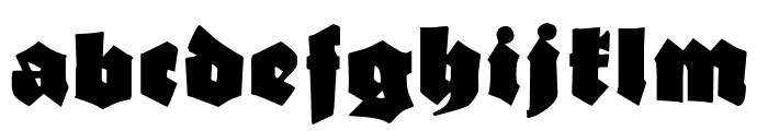 Ganz Grobe Gotisch UNZ1A Font LOWERCASE