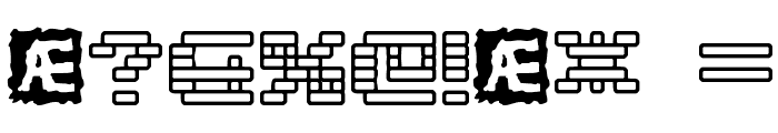 Gaposis Outline [BRK] Font OTHER CHARS