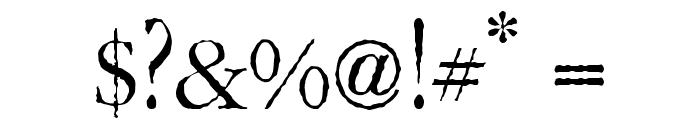 Gar-A-MondTall Antique Font OTHER CHARS