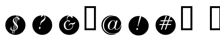 GaraNitials Font OTHER CHARS