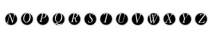 GaraNitialsFramed Font LOWERCASE