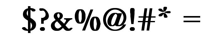 Garamond Bold Font OTHER CHARS